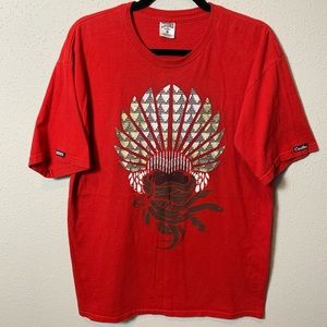 CROOKS&CASTLES Men's Large Red Graphic Tee
